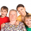 Nice family portrait — Stock Photo