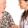 Doctor with granny — Foto Stock