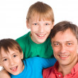 Dad with sons — Lizenzfreies Foto