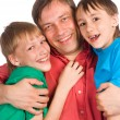 Dad and sons — Stock Photo