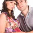 Cute couple portrait - Stock Photo