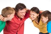 Slim familie portret — Stockfoto