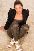 Girl on a carpet — Stock Photo