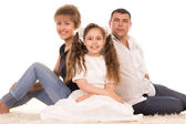 Bonito retrato de família — Foto Stock