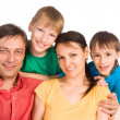 Pretty family portrait — Foto Stock