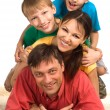 Family on a carpet — Stock Photo #6681802