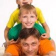 Stock Photo: Dad with sons
