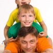 Dad with sons - Stock Photo