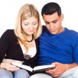 Cute couple reading — Stock Photo #6682236