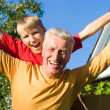 Boy and grandparent — Stock Photo