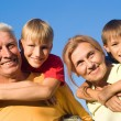 Grandsons and grandparents — Stock Photo