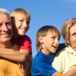 Grandsons and grandparents — Stock Photo #6682558
