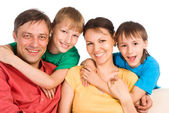 Pretty family portrait — Stock Photo