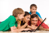 Modern family portrait — Stock Photo
