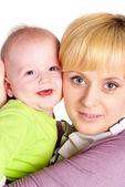 Maman avec bébé — Photo