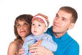 Retrato de familia agradable — Foto de Stock