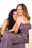 Twee meisjes portret — Stockfoto