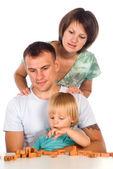 Bela família de três — Foto Stock