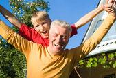 Boy and grandparent — Stock Photo