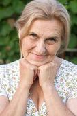 Granny at nature — Stock Photo