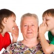 Granny and children - Stock Photo
