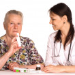 Doctor and a granny — Stock Photo