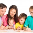Cute family drawing — Stock Photo #6740362