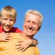 Boy with grandparent — Stock Photo