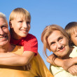 Grandsons and grandparents — Stock Photo #6740492