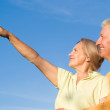 Cute elderly couple at nature — Stock Photo #6740498