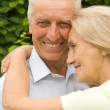Cute old couple outdoors — Stock Photo #6740624