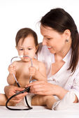 Nurse and baby — Stock Photo