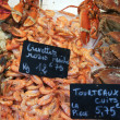 Seafood at market — Stock Photo