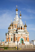 Russian church in Uralsk — Stock Photo