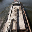 Barge in the Meuse - Stock Photo