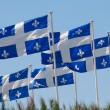 Stock Photo: Quebec flags