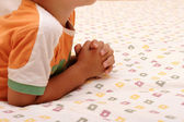 Praying boy — Stock Photo