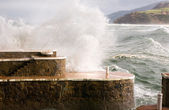Temporal en la Costa Vasca — Stock Photo