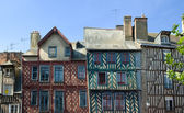 Breton houses in Rennes — Stock Photo