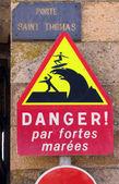 Danger big waves — Stock Photo
