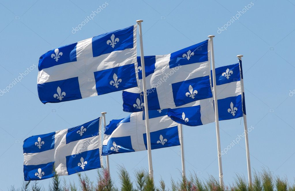 A quebec flags on the wing — Stock Photo #5725000