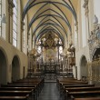 German church indoor — Stock Photo