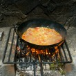Grill paella — Stock Photo