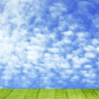 Clouds and prairie - Stock Photo