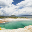 Abyss Pool Geyser Basin Yellowstone National Park in Wyoming USA - Stock Photo