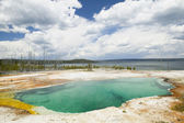 Abyss Pool Geyser Basin Yellowstone National Park in Wyoming USA — Stock Photo