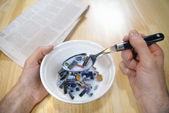 Chipy komputerowe na śniadanie — Zdjęcie stockowe