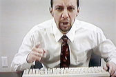 Angry businessman, video still — Stock Photo
