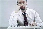 Bored businessman, video still — Stock Photo