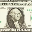 Likeness of George Washington on one dollar bill — Stock Photo #5778379